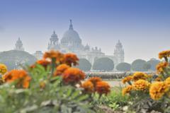 Victoria Memorial, Kolkata , India - Historical monument. - stock photo