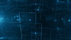 Digital data technology numbers backgorund LOOP Top wiev Blue Stock Footage