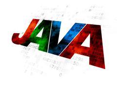 Software concept: Java on Digital background - stock illustration