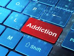 Health concept: Addiction on computer keyboard background Stock Illustration