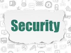 Privacy concept: Security on Torn Paper background Stock Illustration