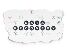 Data concept: Data Recovery on Torn Paper background Stock Illustration
