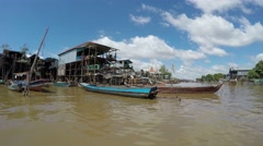 Video of floating village Kompong Phluk, Siem Reap Stock Footage