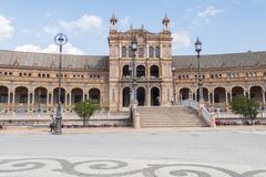 Spain Square, Seville, Spain (Plaza de Espana, Sevilla) - stock photo