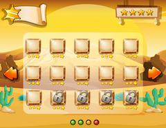 Game template with desert background Stock Illustration