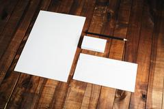 Photo of blank stationery set - stock photo