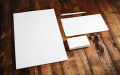 Blank brand template - stock photo