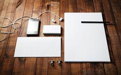 Blank corporate identity template Stock Photos