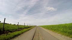 On-board-camera P.O.V. - Driving on a farm track in Germany (EIFEL) Stock Footage