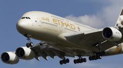 Etihad Airlines Airbus A380 Stock Photos