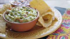 Guacamole Chip Dip - stock footage