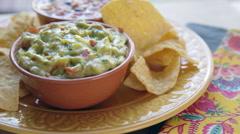 Guacamole Chip Dip Stock Footage