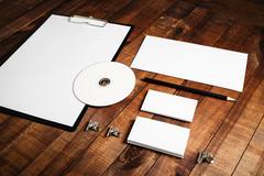 Blank stationery set - stock photo