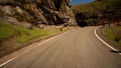 POV: Driving over a old bridge over the River Apurimac in Peru Stock Footage