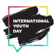 International Youth Day Banner Stock Illustration
