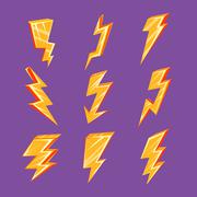 Lightning Bolt Set - stock illustration