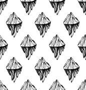 Mountain  iceberg peak - stock illustration