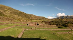 Tipón (Inca ruins) near Cusco in Peru, South America - stock footage