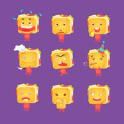 Sandwich Character Set Stock Illustration