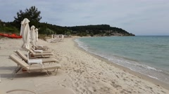 A beach bar at Halkidiki, Greece. Stock Footage
