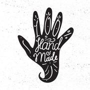 Hand Made Badge - stock illustration