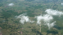 Cuba Aerial Rural Countryside Stock Footage