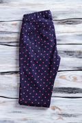 Dark navy casual pants. Stock Photos