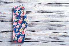 Casual trousers with floral print. Stock Photos