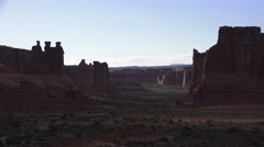 Dusk and shadows, ARCHES NATIONAL PARK Stock Footage