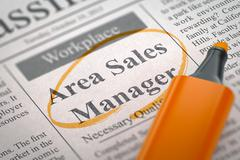 Area Sales Manager Wanted - stock illustration