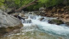 River in the stones. Grand Canyon of Crimea. Mountain Crimea Stock Footage