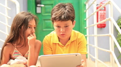 Kids with digital tablet 4 Stock Footage