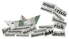Concept of financial crisis Stock Illustration