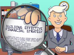 Building Effective Financial Strategy through Lens - stock illustration