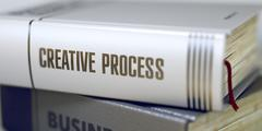 Creative Process Concept. Book Title - stock illustration