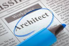 Job Opening Architect Stock Illustration