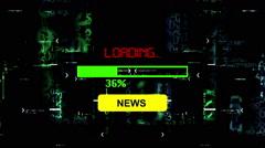 Progress bar news loading Stock Footage