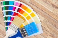 Color palette guide - stock photo