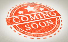 Coming Soon Stamp Stock Photos