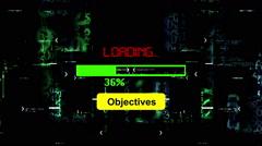 Progress bar Objectives loading Stock Footage