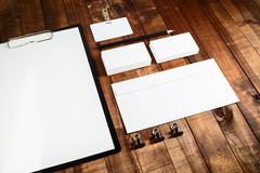Blank corporate identity Stock Photos