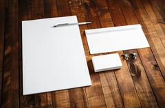 Blank stationery template - stock photo