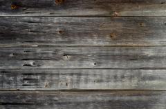 Old Panel Wood Background Horizontal Gray - stock photo
