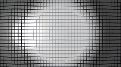 Cubic surface in motion. Loop ready animation of cubes moving wave - stock footage
