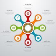Vector illustration infographics eight options - stock illustration