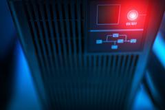 Storage servers in data room Domestic Room - stock photo