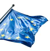 EU flag on white - stock photo