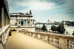 The lower part of Buda castle Stock Photos