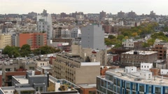 A panoramic real time shot of Williamsburg neighbourhoods in New York. Stock Footage