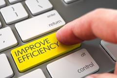 Hand Finger Press Improve Efficiency Key - stock illustration